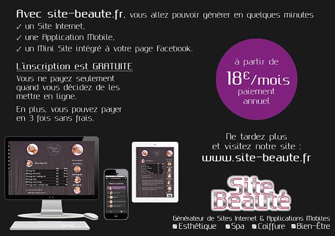 partenaires Plaquettes Dépliants Flyers pour les Esthéticiennes Institut Beauté Coiffeurs - Tous droits réservés à Pixellecom - Sonia Richert 06 75 75 73 57