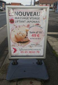 affiches vinyles flyers esthéticiennes institut beauté coiffure Pixellecom